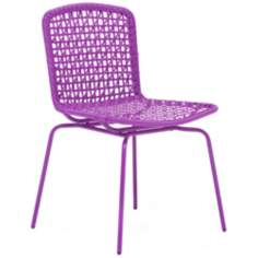 Zuo Silvermine Outdoor Purple Bay Chair
