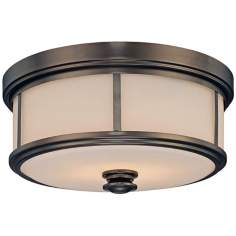 "Minka Lavery Harvard Court 13 1/2"" Wide Bronze Ceiling Light"