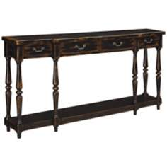 Apperson Black 4-Drawer Console Table