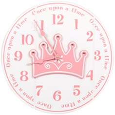 "Once Upon A Time 14"" Wide White Children's Wall Clock"