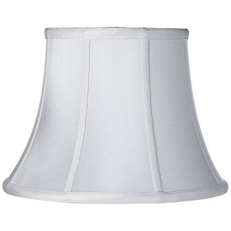 White Silk Dupioni Modified Bell Shade 8x13x9.5 (Spider)