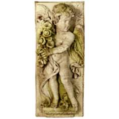 "Little Boy Spring 30"" High Outdoor Wall Sculpture"