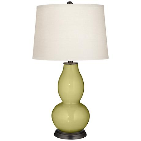 Linden Green Double Gourd Table Lamp