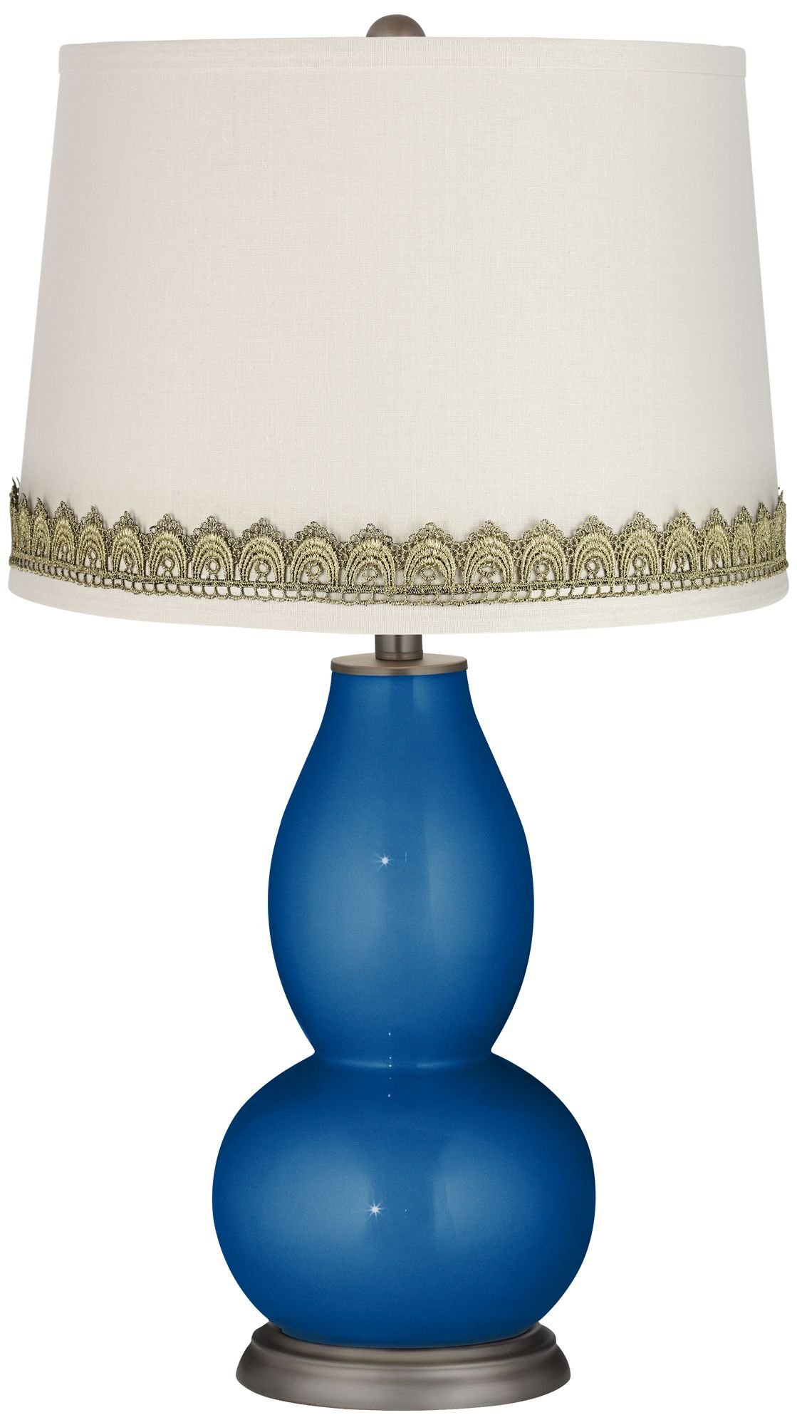 Leds-C4 Ocho Light Online Price Cheap Ocean Metallic Double Gourd Table Lamp with Scallop Lace Trim