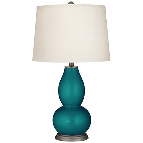 Magic Blue Metallic Double Gourd Table Lamp