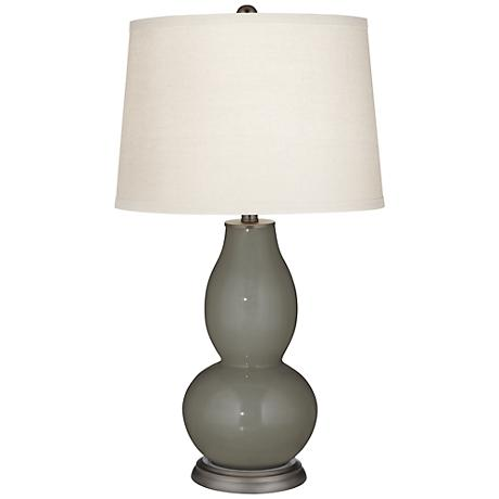 Gauntlet Gray Double Gourd Table Lamp