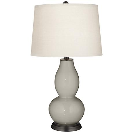Requisite Gray Double Gourd Table Lamp