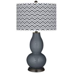 Turbulence Narrow Zig Zag Double Gourd Table Lamp