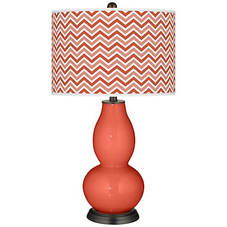 Koi Narrow Zig Zag Double Gourd Table Lamp