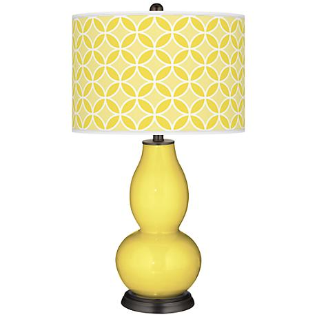 Lemon Twist Circle Rings Double Gourd Table Lamp