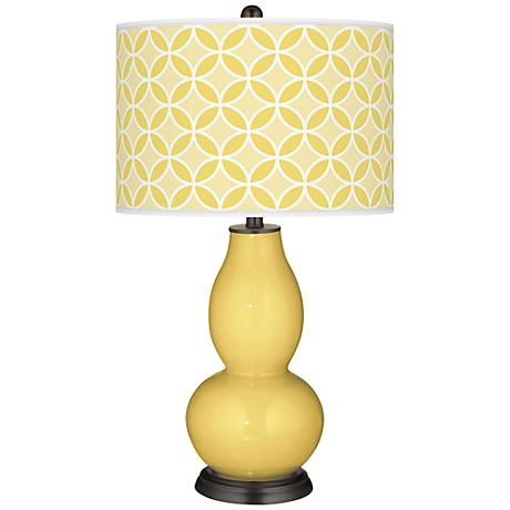 Daffodil Circle Rings Double Gourd Table Lamp