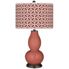 Brick Paver Circle Rings Double Gourd Table Lamp