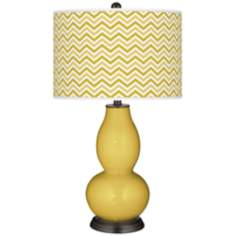 Nugget Narrow Zig Zag Double Gourd Table Lamp