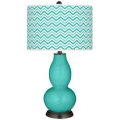Synergy Narrow Zig Zag Double Gourd Table Lamp