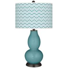 Reflecting Pool Narrow Zig Zag Double Gourd Table Lamp