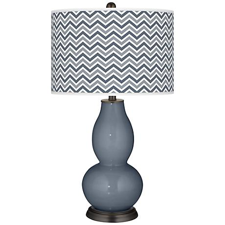 Granite Peak Narrow Zig Zag Double Gourd Table Lamp