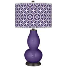 Izmir Purple Circle Rings Double Gourd Table Lamp