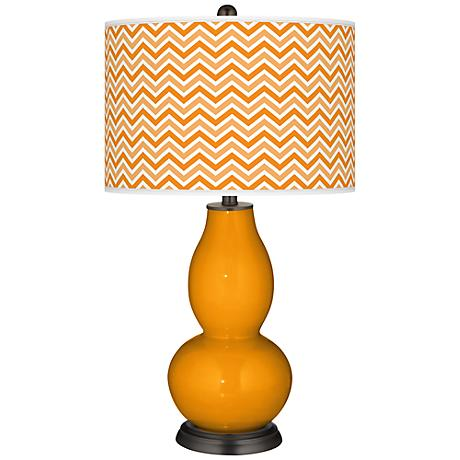 Mango Narrow Zig Zag Double Gourd Table Lamp