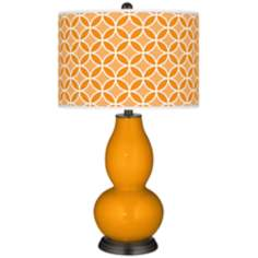 Mango Circle Rings Double Gourd Table Lamp