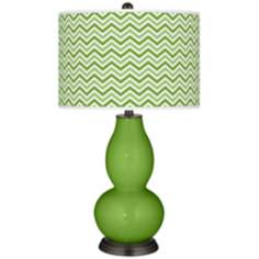 Rosemary Green Narrow Zig Zag Double Gourd Table Lamp