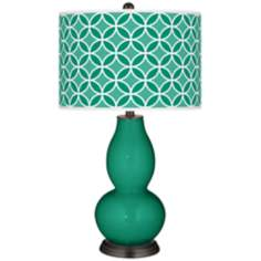 Emerald  Circle Rings Double Gourd Table Lamp