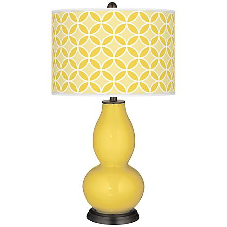 Lemon Zest Circle Rings Double Gourd Table Lamp