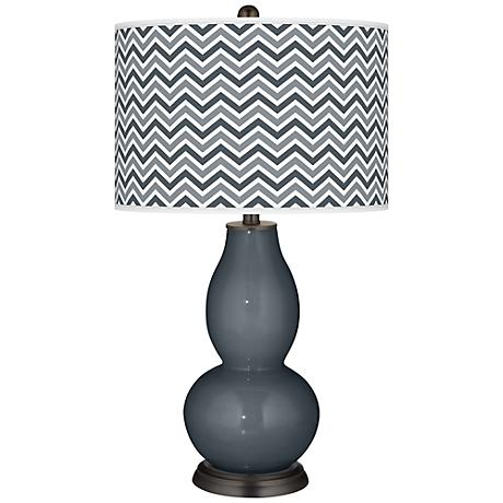 Outer Space Narrow Zig Zag Double Gourd Table Lamp
