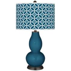 Oceanside Circle Rings Double Gourd Table Lamp