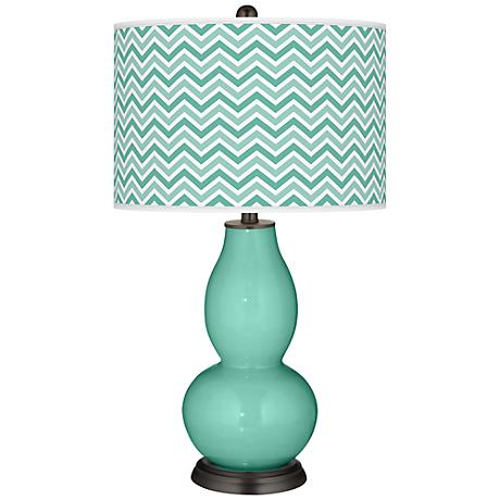 Larchmere Narrow Zig Zag Double Gourd Table Lamp