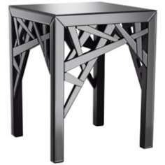 Ayden Grey Smoked Mirror End Table