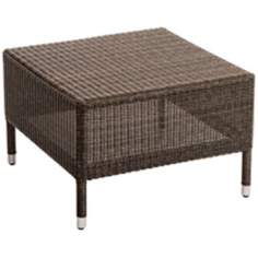 Osiris Collection Square Wicker Outdoor Side Table