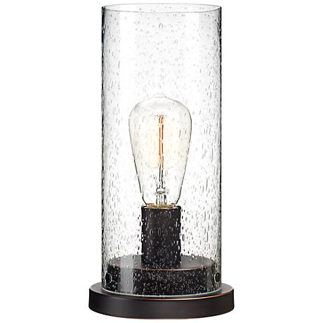Libby Seeded Glass Edison Bulb Accent Lamp
