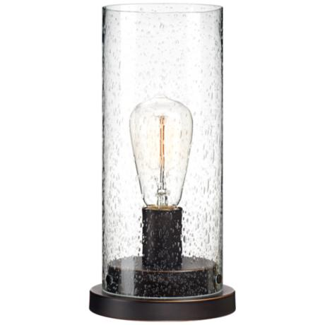 Libby Seeded Glass Edison Bulb Accent Lamp Y9401