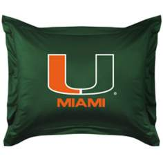 NCAA University of Miami Hurricanes Locker Room Pillow Sham