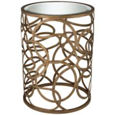 Valentina Gold Mirror Top Accent Table