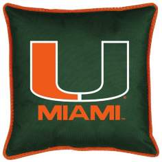 NCAA Miami Hurricanes Sidelines Pillow