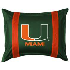 NCAA Miami Hurricanes Sidelines Pillow Sham