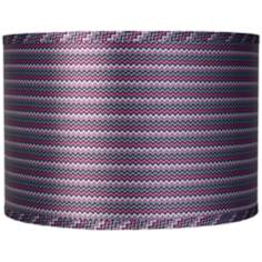 Purple Zig Zag Drum Lamp Shade 16x16x11 (Spider)
