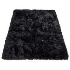 Black Bear 012 Faux Fur Area Rug