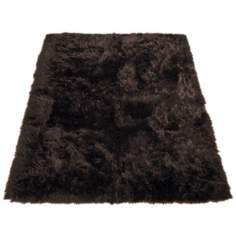 Brown Bear 022 Faux Fur Area Rug