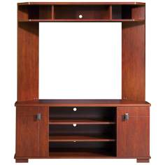 Vertex 2-Door Classic Cherry Corner TV Unit