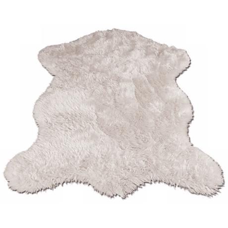 White Polar Bear 031 Faux Fur Area Rug
