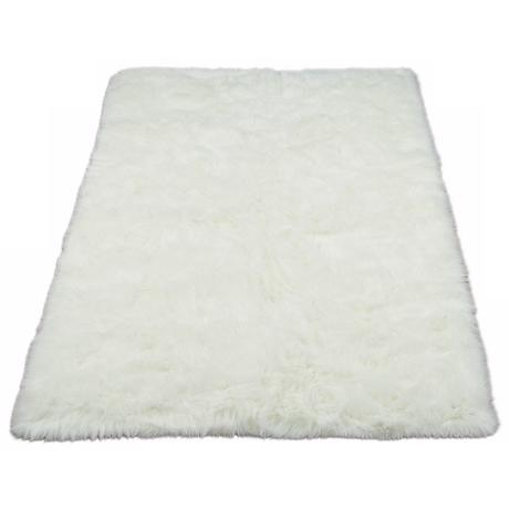 White Polar Bear 032 Faux Fur Area Rug