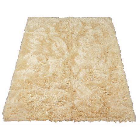 Ivory Sheepskin 062 Faux Fur Area Rug