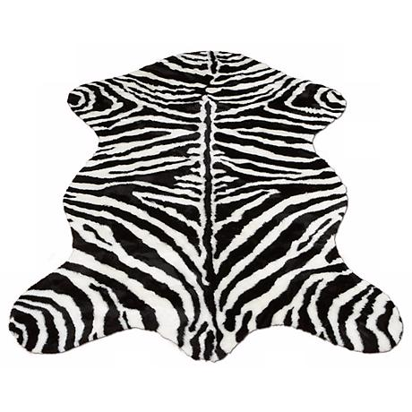 Zebra Stripe 131 Faux Fur Area Rug
