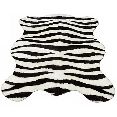 Zebra Stripe 141 Faux Fur Area Rug