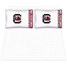 NCAA South Carolina Gamecocks Micro Fiber Sheet Set