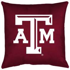 NCAA Texas A&M Aggies Locker Room Throw Pillow