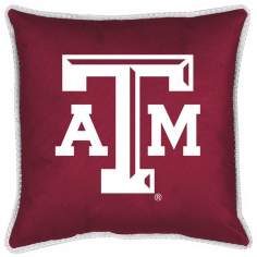 NCAA Texas A&M Aggies Sidelines Throw Pillow