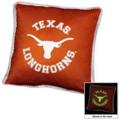 NCAA Texas Longhorns Sidelines Toss Glow Pillow